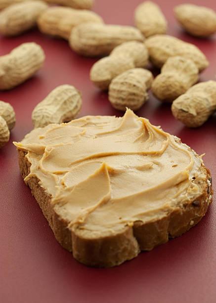 peanutbutter sandwich - peanutbutter bildbanksfoton och bilder