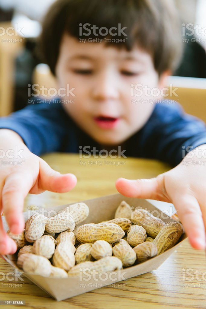 Peanuts and allergies stock photo
