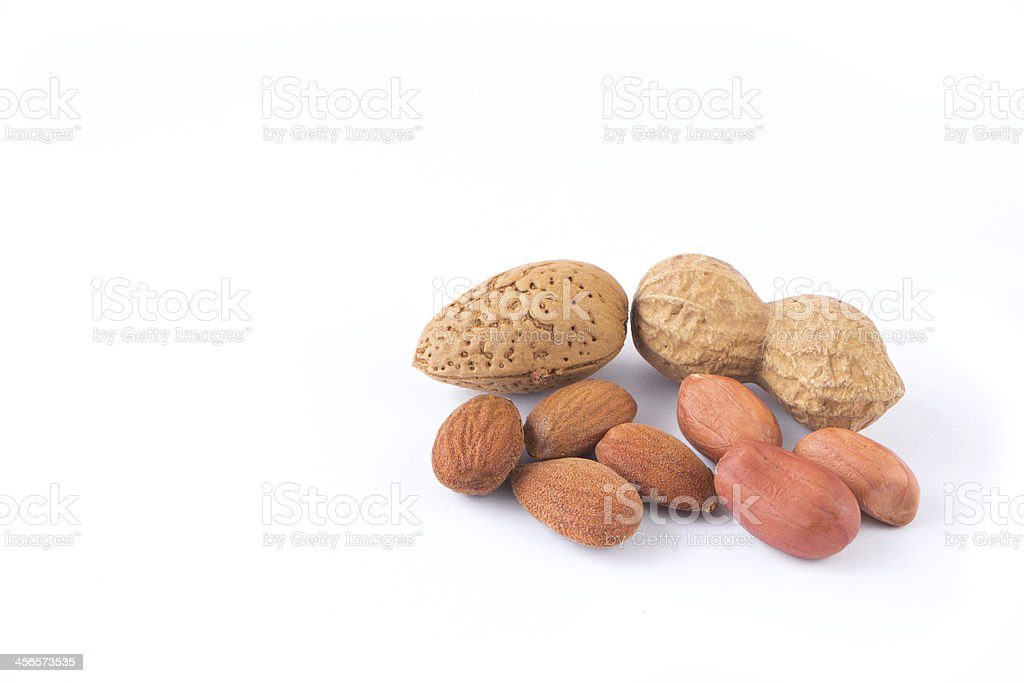 peanuts and almonds royalty-free stock photo