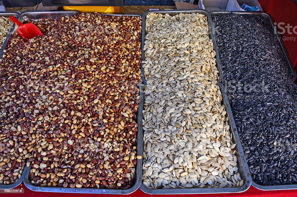 Peanuts and seeds foto royalty-free
