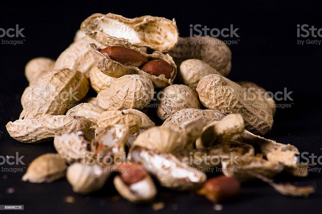 Peanuts and shells royalty-free stock photo