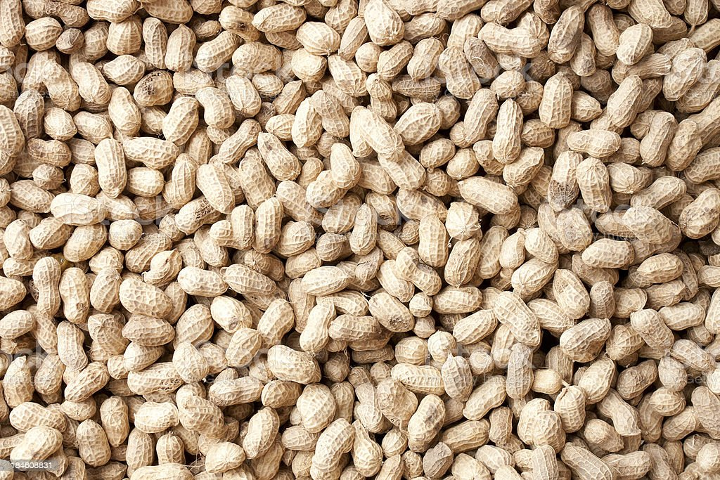 Peanuts background stock photo