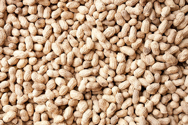 peanuts background - peanut food stock photos and pictures