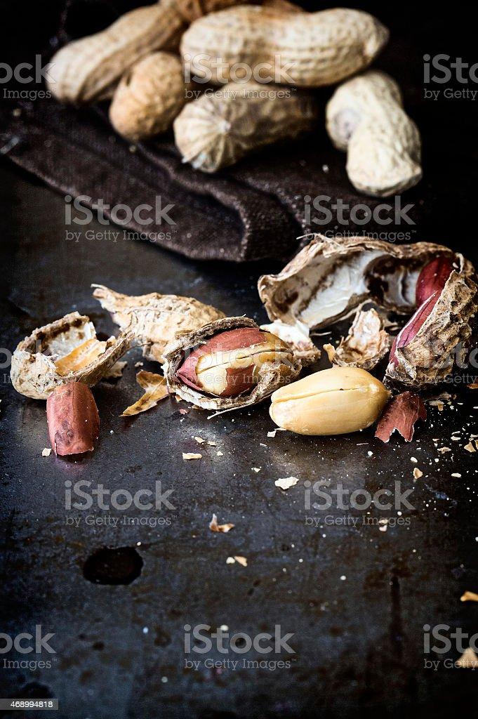 Peanuts. Close-up. stock photo