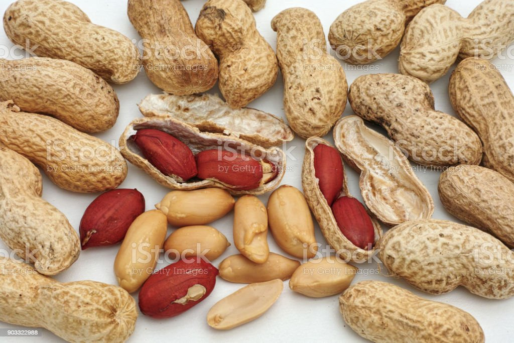 peanuts, fruits and seeds stock photo