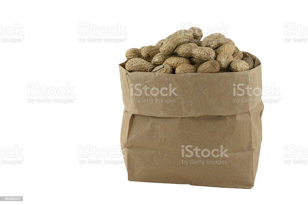 Noccioline in una borsa foto stock royalty-free