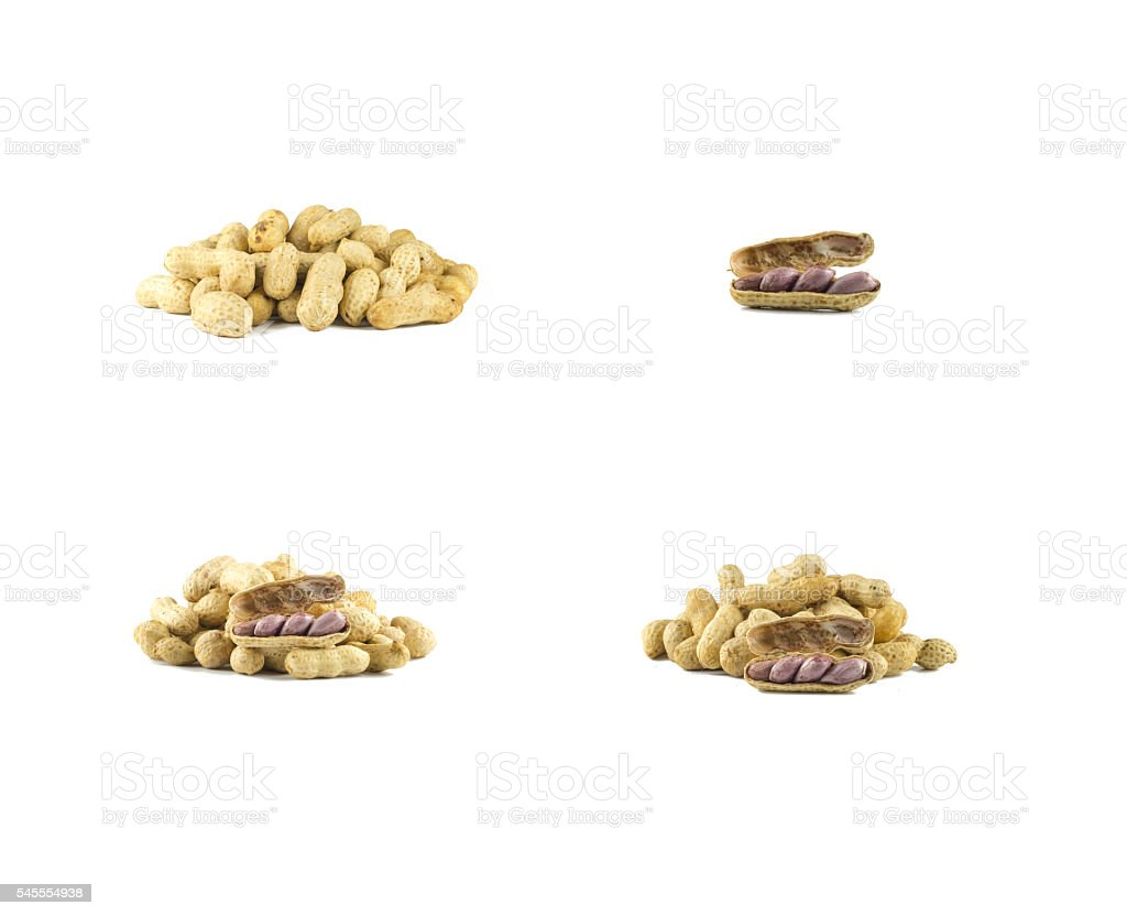peanuts isolated on white stock photo