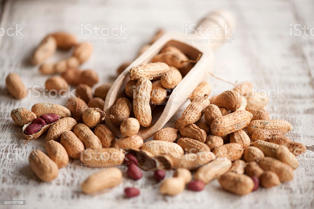 Peanuts, loved appetizer stock photo