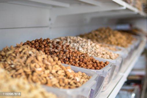 different varieties of nuts