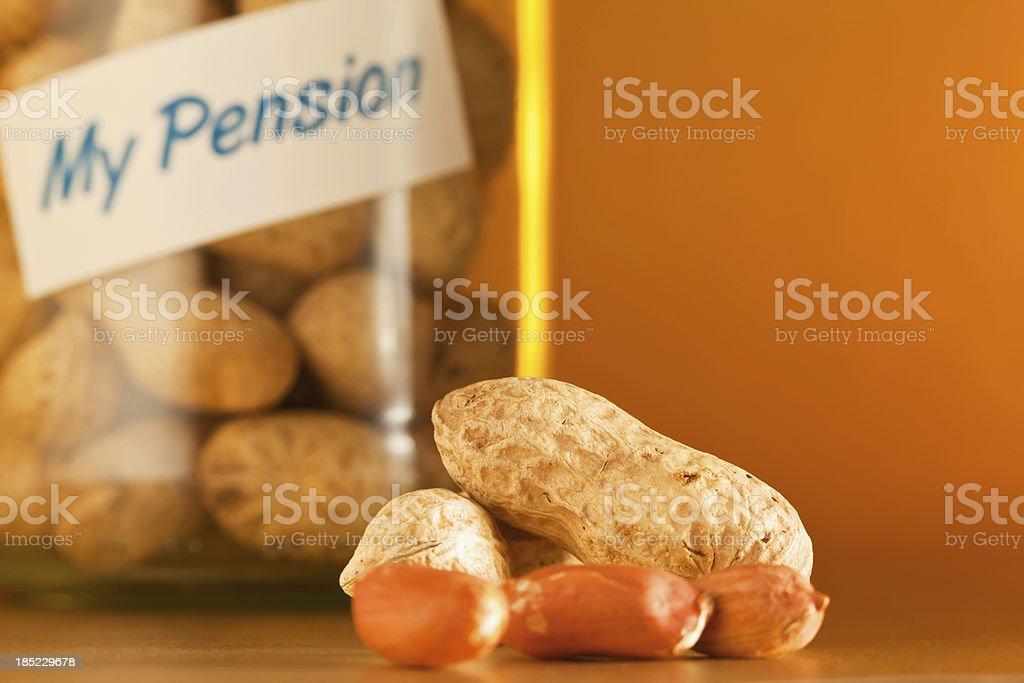 Peanuts Pension royalty-free stock photo