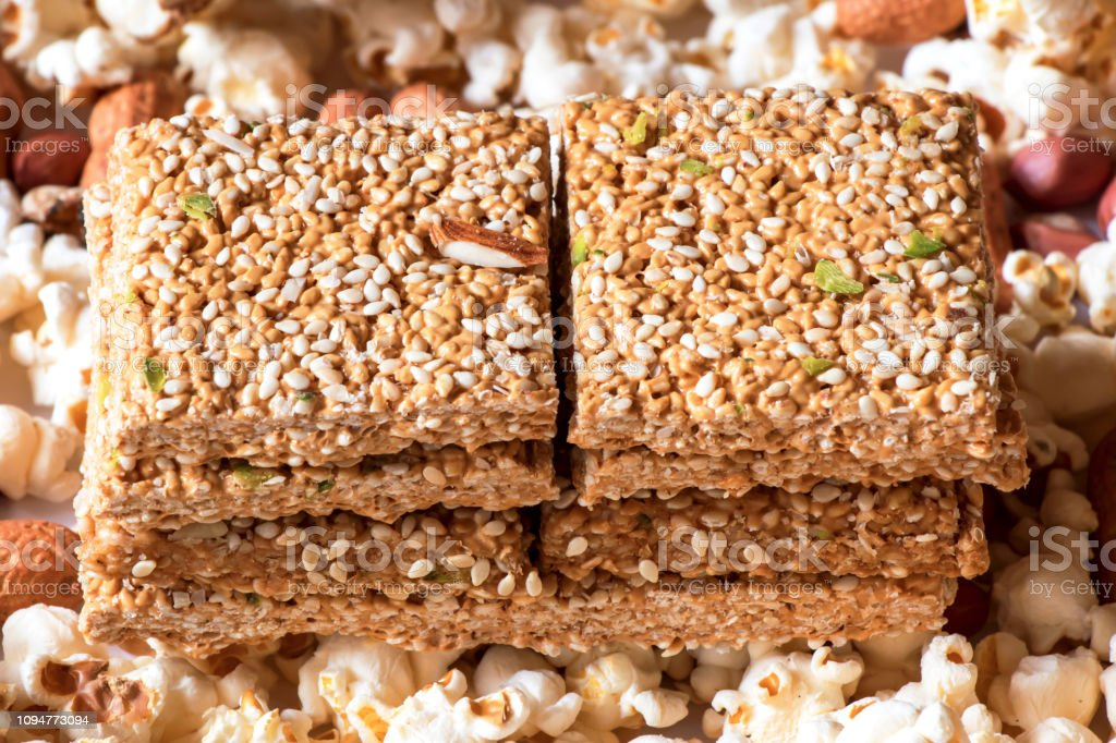 Peanuts Sesame Seeds Chikki Placed On Occasion Of Lohri Celebrated