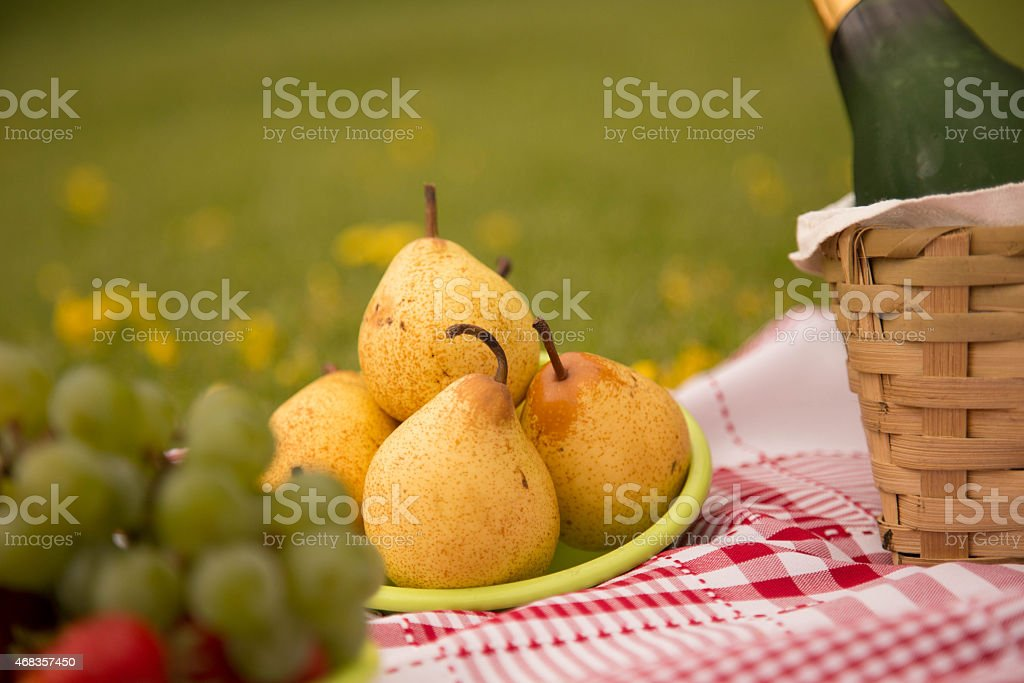 Pear and Grapes royalty-free stock photo