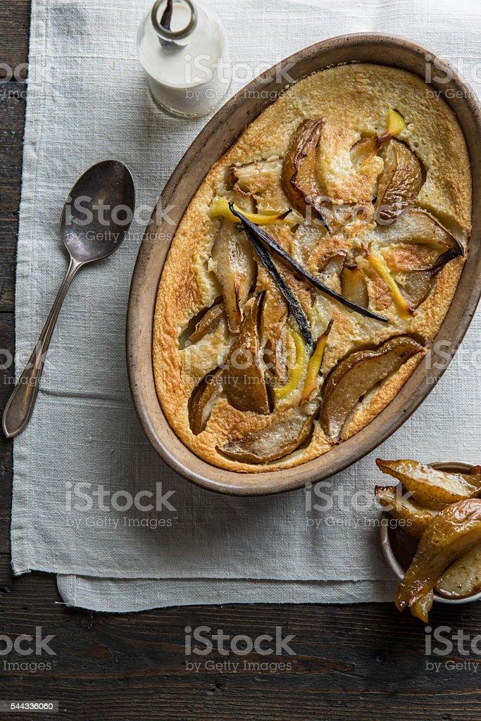 Pear Clafoutis stock photo