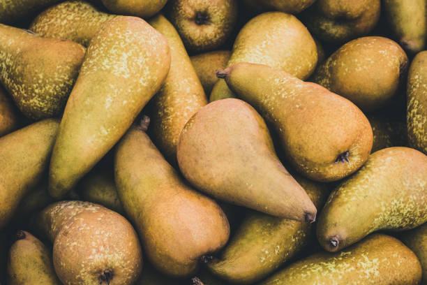 Birnenfrüchte Makro - Birnenhaufen - – Foto