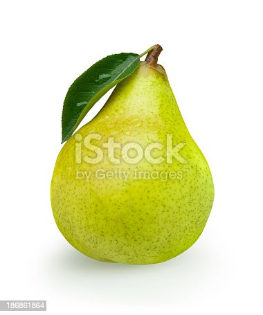 istock Pear green with Leaf 186861864