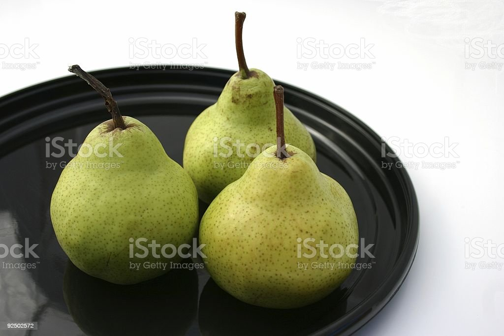 pear group of three royalty-free stock photo