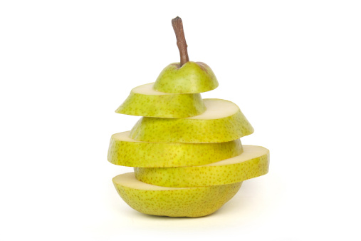 Pear In Slices Stock Photo - Download Image Now