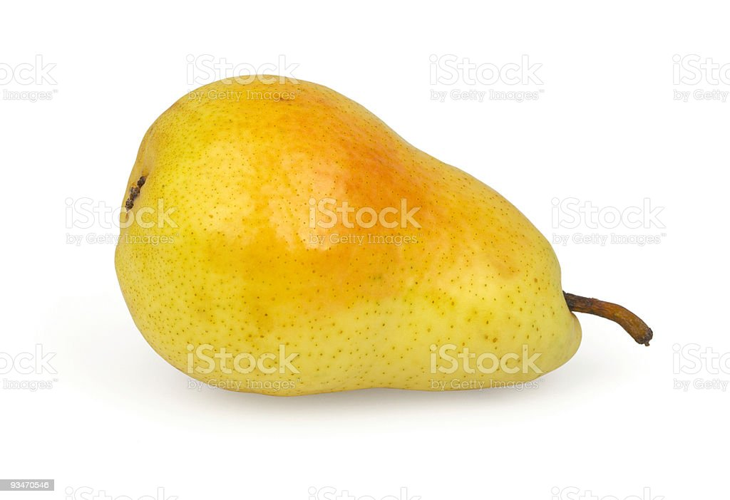 Pear isolated on white royalty-free stock photo
