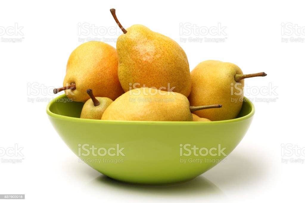 pear on white background stock photo