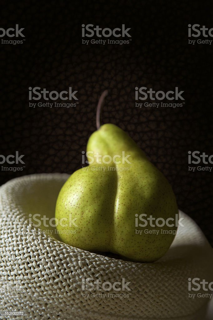 Pear Pear on the hat Agriculture Stock Photo