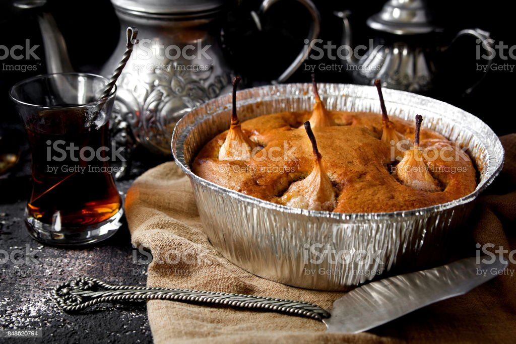 грушевый пирог stock photo
