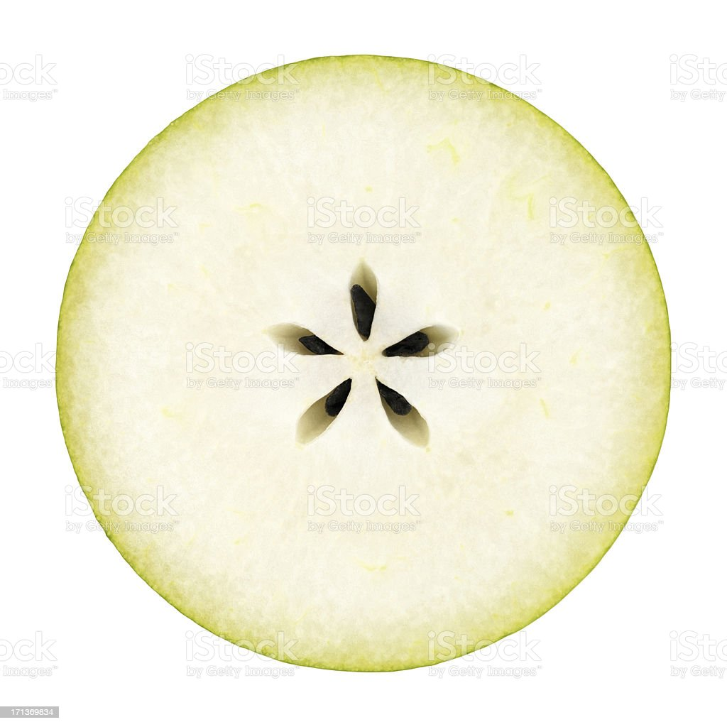 Pear portion on white stok fotoğrafı