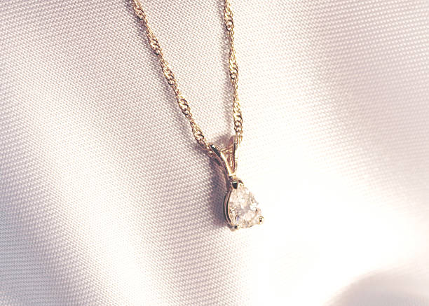 Pear Shaped Diamond Pendant  amulet stock pictures, royalty-free photos & images