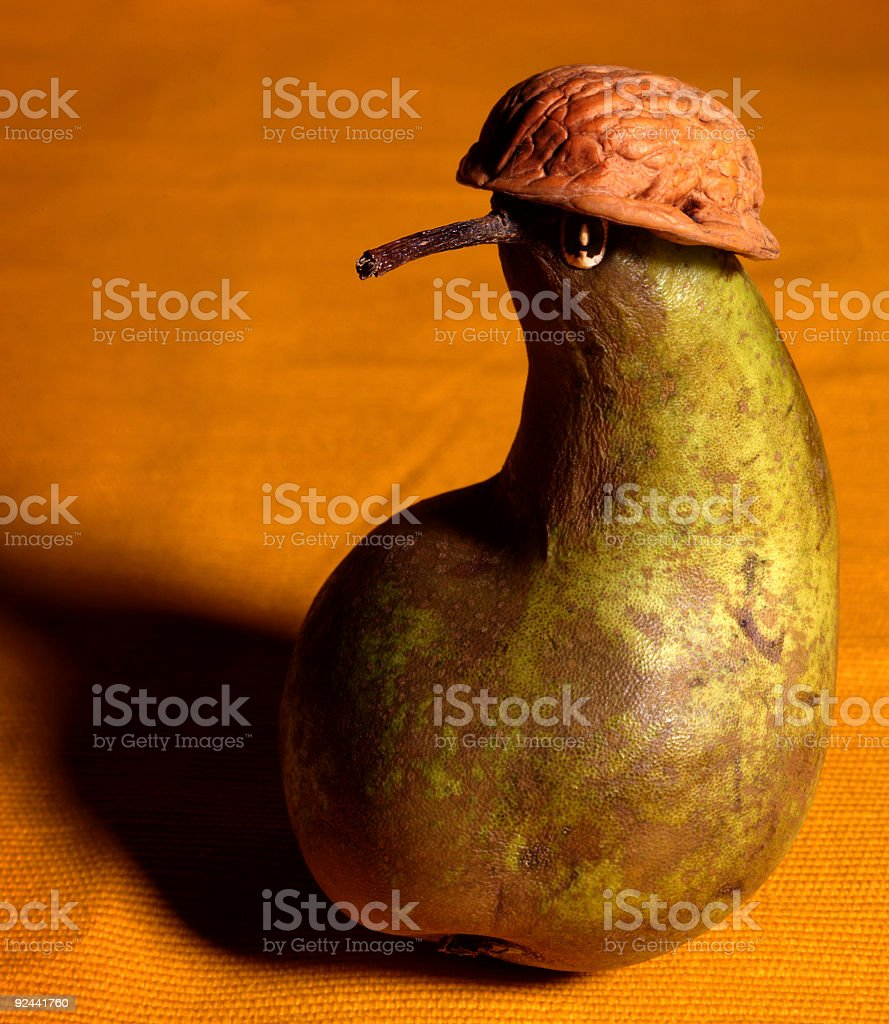 Pear soldier royalty-free stock photo