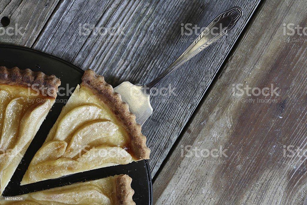Pear tart. stock photo
