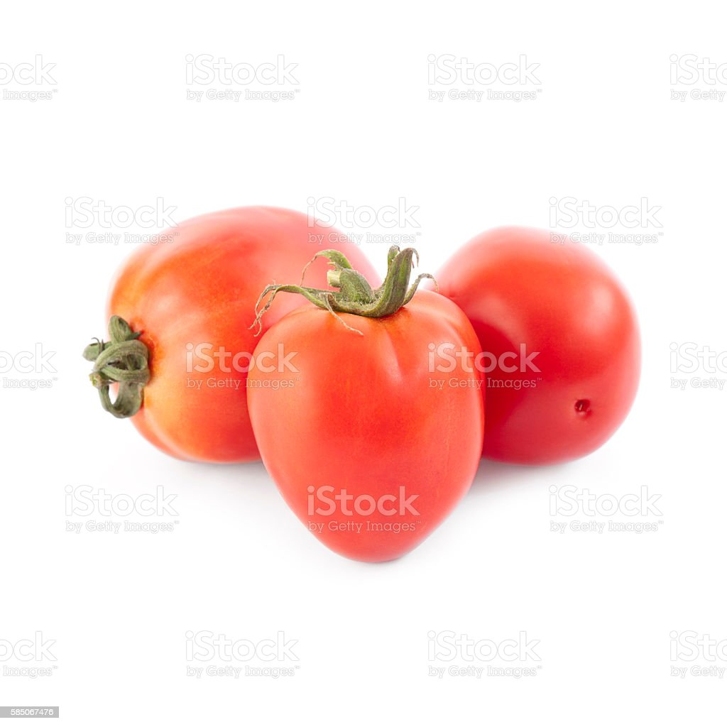 Pear tomatoes isolated stock photo