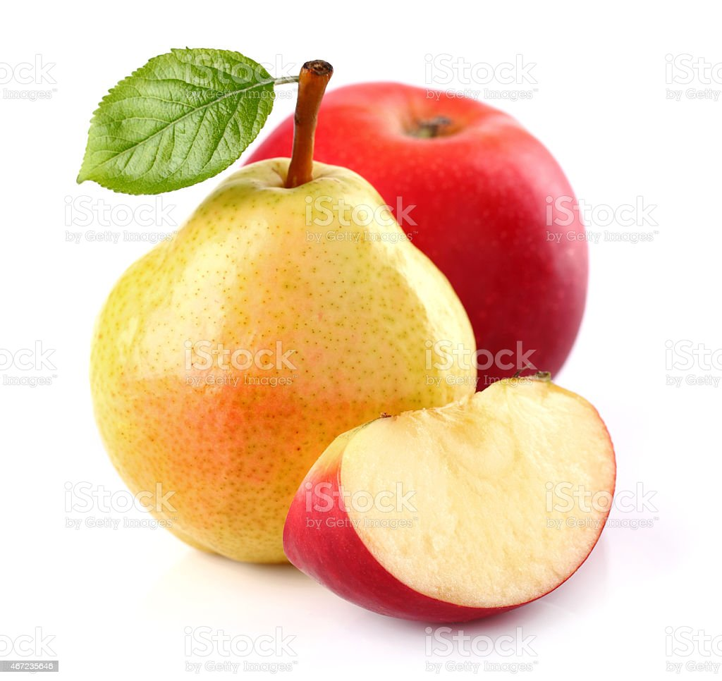 Pear with apple stock photo