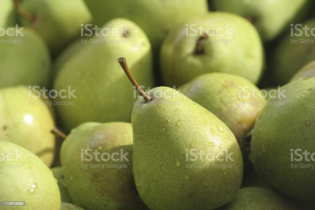 Pear with friends stock photo