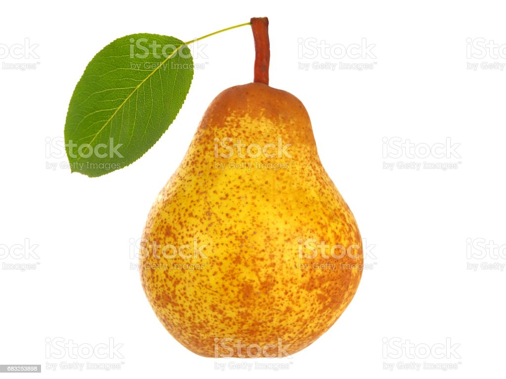 pear with leaf royalty-free stock photo