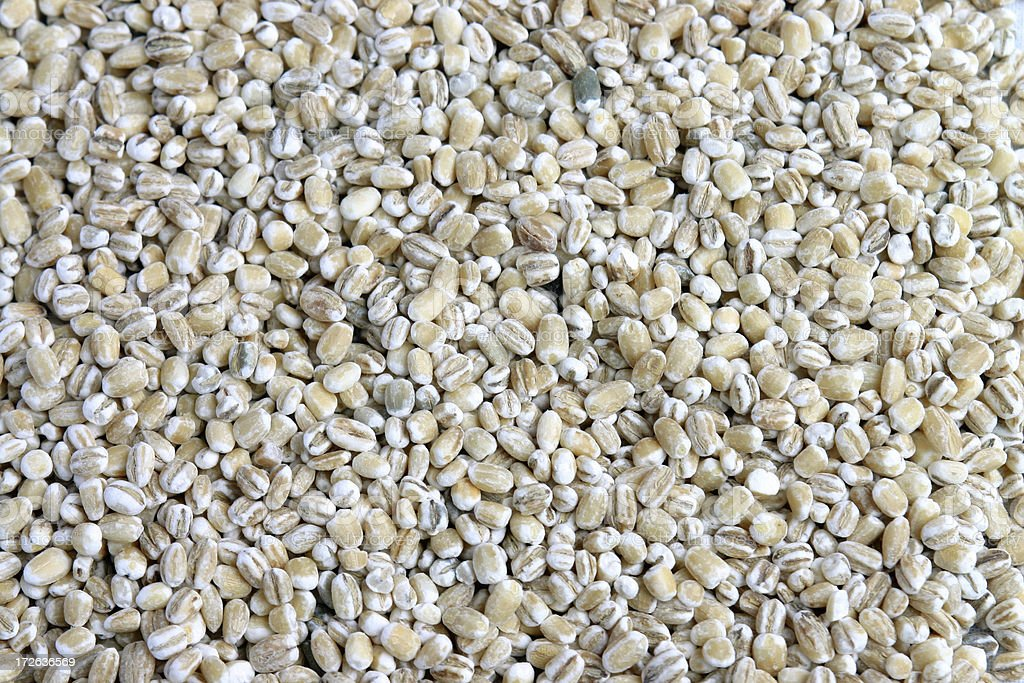 Pearl barley background royalty-free stock photo