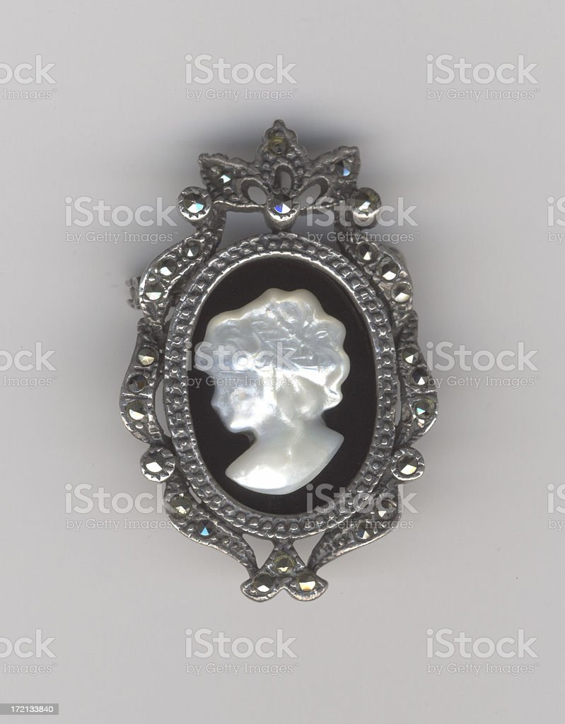 Pearl Cameo stock photo