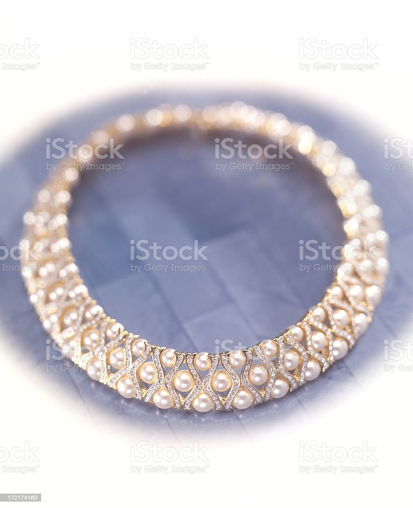 Pearl Collar Necklace royalty-free stock photo