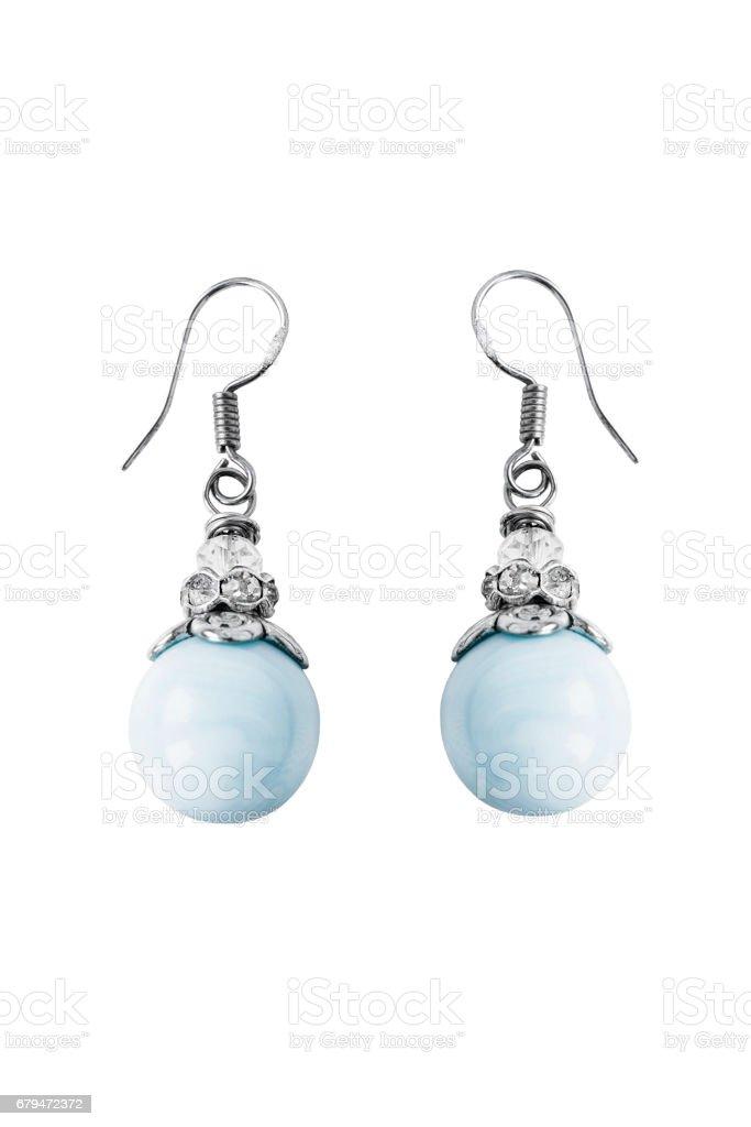 孤立的珍珠耳環 免版稅 stock photo