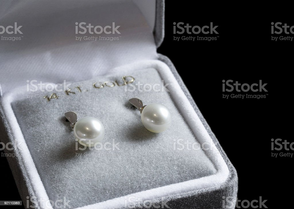 Pearl earrings royalty-free stock photo