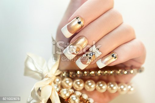 istock Pearl French manicure. 521002675
