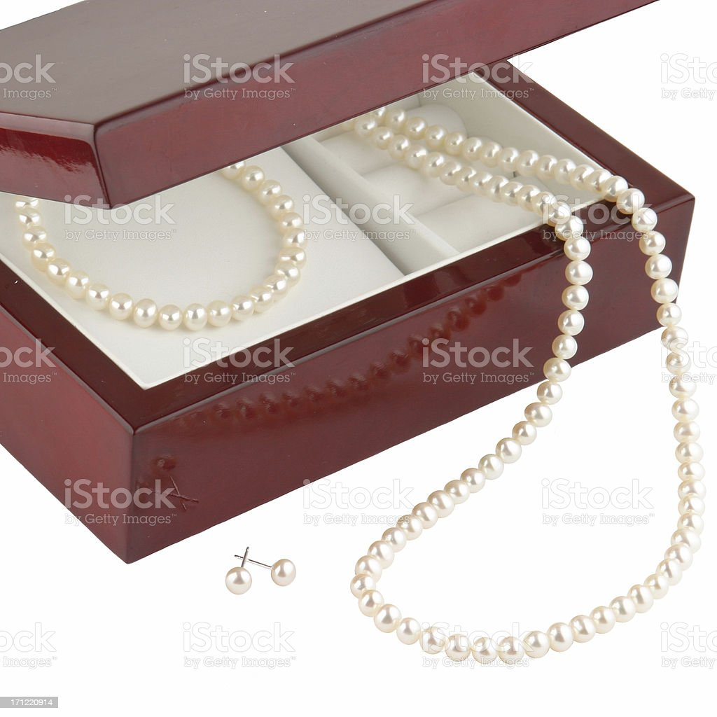 Pearl Gift Set royalty-free stock photo