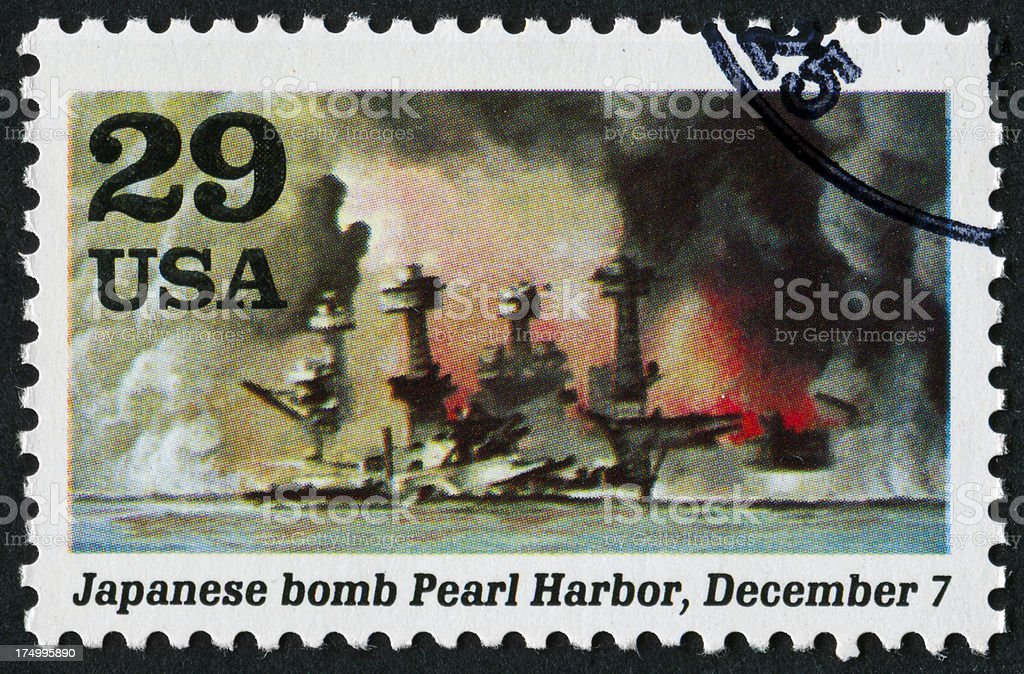 Pearl Harbor Stamp stock photo