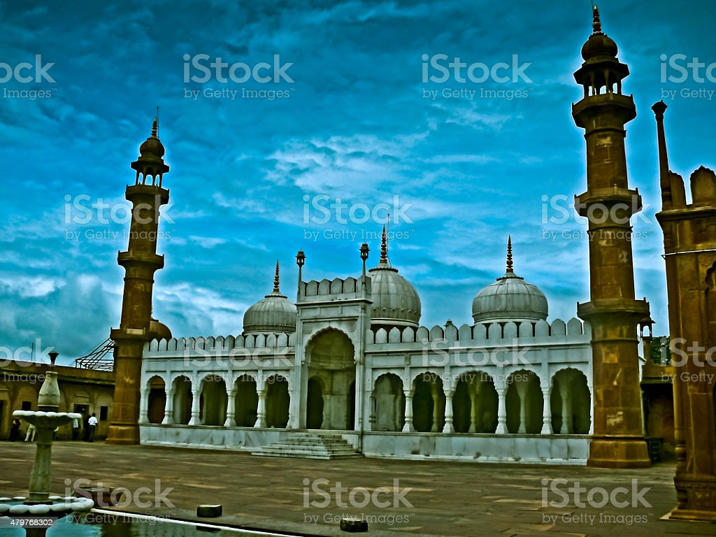Pearl Mosque, Moti Masjid stock photo