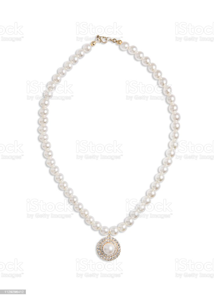 Pearl Necklace In Jewelry Box Closeup High-Res Stock Photo