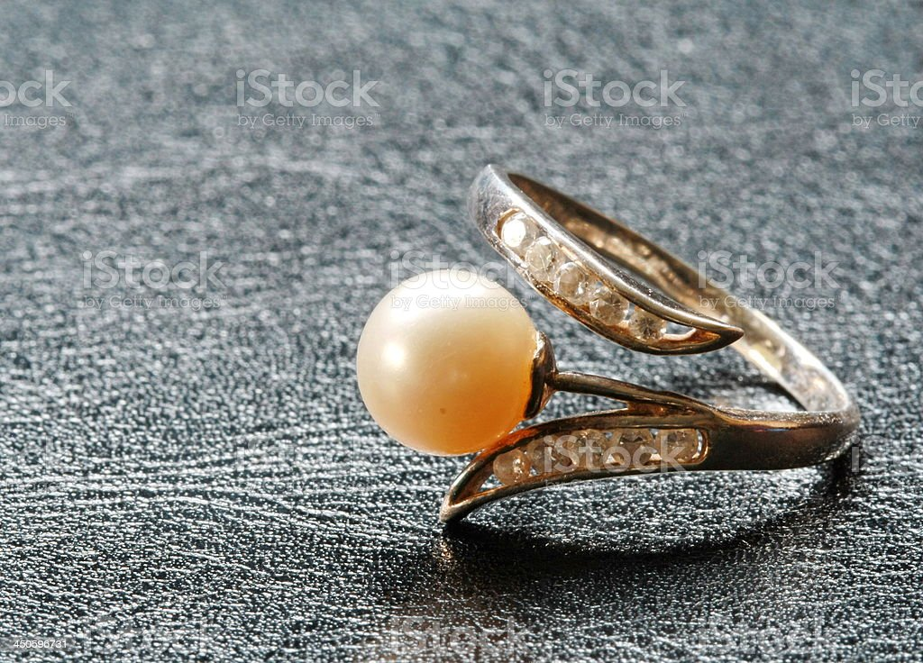 pearl ring stock photo