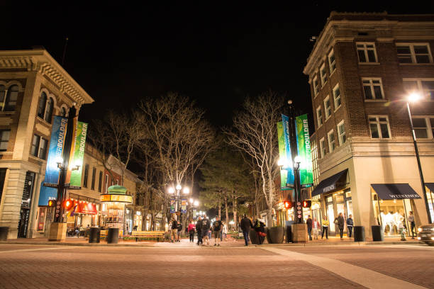 Pearl Street Mall Boulder Colorado stock photo
