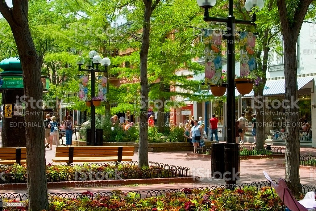 Pearl Street Mall royalty-free stock photo