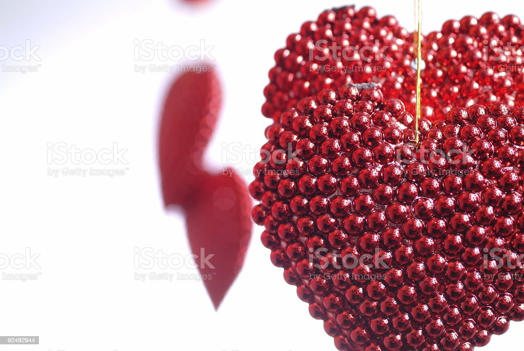 Pearled hearts royalty-free stock photo