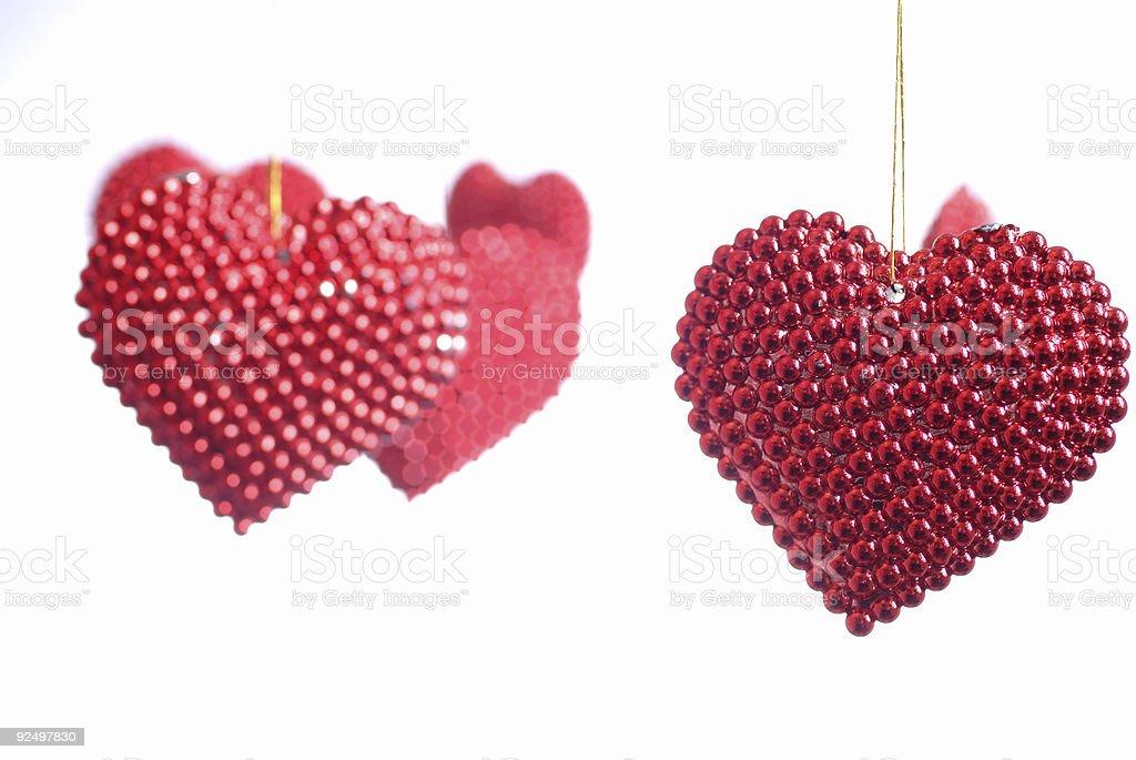 Perlförmig geschliffen Herz Lizenzfreies stock-foto