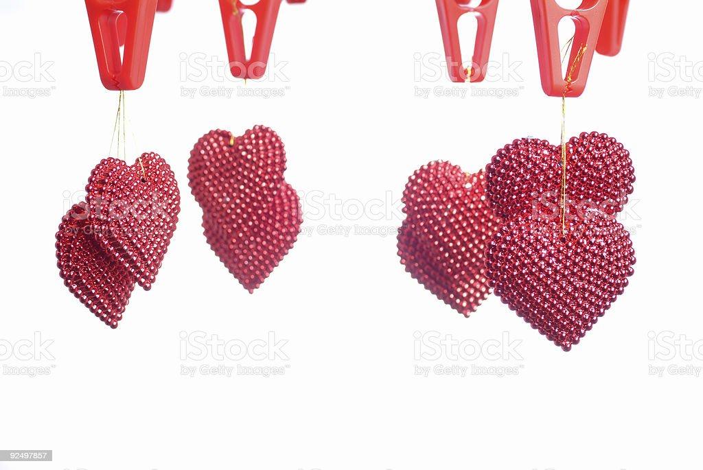 Pearled hearts royalty-free stock photo