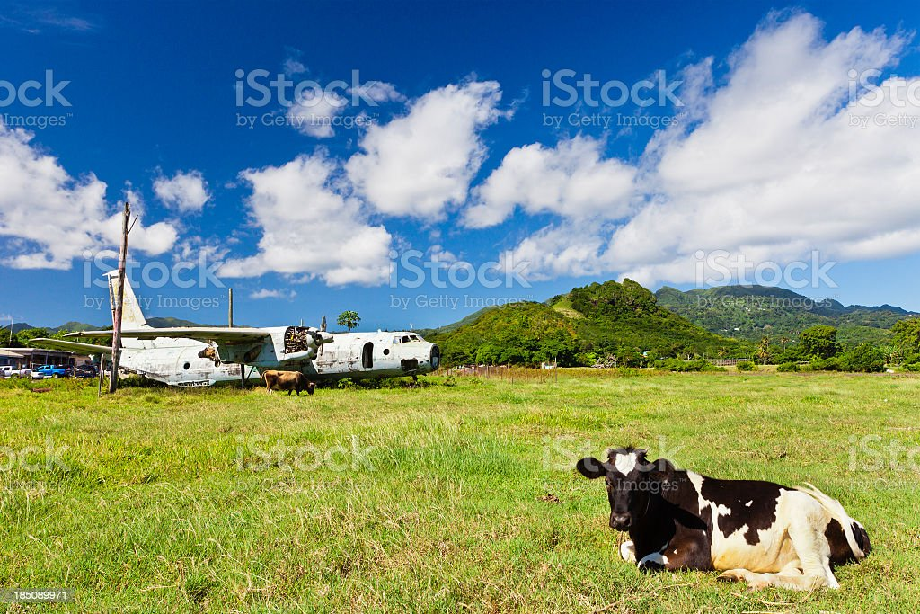 Pearls Airport, Grenada W.I. royalty-free stock photo